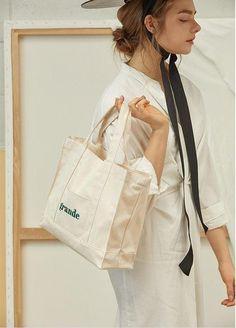Anika Canvas Crossbody Tote - Mini or Grande – watereverysunday Canvas Shopper Bag, Triangle Bag, Jute, White Tote Bag, Embroidery Bags, Crossbody Tote, Fabric Bags, Cute Bags, Casual Bags