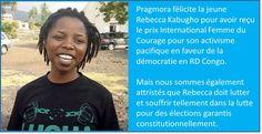 20170324 via @pragmora  #RDC #RebeccaKabugho #womenofcourage  @matumo_b @luchaRDC @filimbi243 @fredbauma90 @rassemblementrd @gi14Martin @SashaLezh @MinCanadaFA