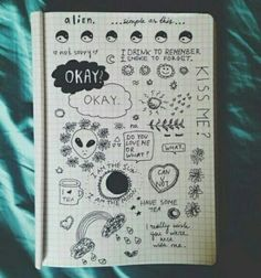 - only grunge posts - Tumblr Drawings, Tumblr Art, Doodle Drawings, Easy Drawings, Doodle Art, Drawing Sketches, Drawing Ideas, Notebook Drawing, Notebook Doodles