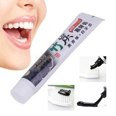 Teeth Whitening Toothpaste Oral Hygiene Bamboo Charcoal Toothpaste Universal Home Black Toothpaste Teeth Care Accessory Whitening Skin Care, Teeth Whitening Remedies, Natural Teeth Whitening, Charcoal Toothpaste, Charcoal Teeth Whitening, Receding Gums, Teeth Care, Peeling, Cosmetic Dentistry