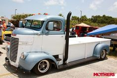 This strange beast is a 1947 Dodge COE (cab over engine) with a Chevy 350.
