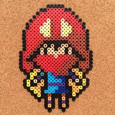 Princess Mononoke by tsubasa.yamashita fuse beads hama beads nabbi beads nano beads perler beads アイロンビーズ 拼豆 拼拼豆豆