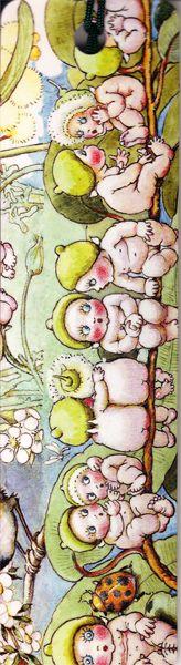 Bookmark Gumnut babies with tassle