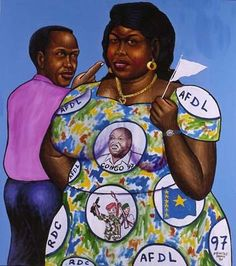 Maman Moziki 100 Kilos by Moke - Pigozzi Collection 2020 African Paintings, African Artists, Black History, Art History, Contemporary African Art, Great Lakes Region, Lake Art, Beauty In Art, Art And Architecture