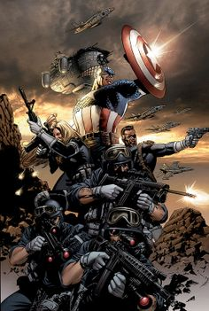 Captain America, Nick Fury and S.H.I.E.L.D. by Steve Epting