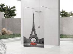 Mampara de ducha de vidrio serigrafado KUADRA H Colección Kuadra H In Art by NOVELLINI