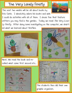 These activities and MUCH more can be found in my new unit Garden Critters, Common Core Reading and Math activities on TPT I have . Kindergarten Activities, Book Activities, Preschool Ideas, Craft Ideas, School Holiday Activities, Insect Activities, Author Studies, Unit Studies, Kindergarten Books