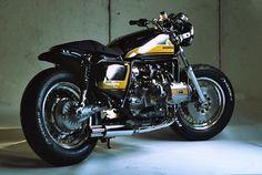 Beautiful Bobber style special based on Honda Goldwing (boxer engine).
