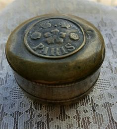 Antique French Trinket  Pill Box Art Nouveau by PinyolBoiVintage