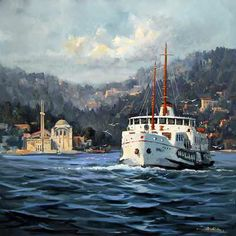 Bülent Kılç www.artconsept.com Dali Paintings, Landscape Paintings, Watercolor Paintings, Istanbul City, Oil Painting Pictures, Pics Art, Turkish Art, Turkey Travel, Pour Painting