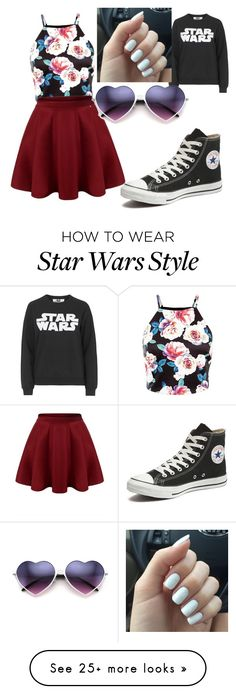 """""""Movie night"""" by makeupdiva105 on Polyvore featuring Tee and Cake, Converse, women's clothing, women's fashion, women, female, woman, misses and juniors"""