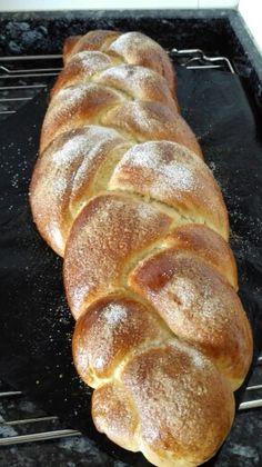 Trenza de pan dulce.