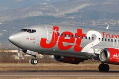 Jet2 G-CELO take off from Verona Airport