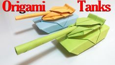 How to Make an Origami Tank Step by Step   Paper Tanks Tutorial   Origam...