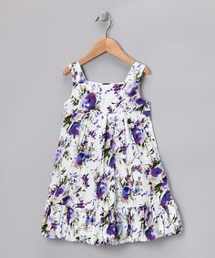 Take a look at this Purple Floral Doris Bubble Dress - Toddler & Girls on zulily today! @Brittney Anderson Heimbigner would be so cute on Heidi!