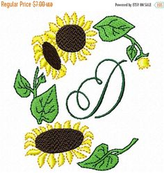 SALE 65% off Sun Flower Sunflower Machine by embroiderydesignsavi