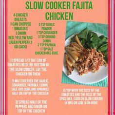 Syn free slow cooker fajita chicken ||FatKerrys blog
