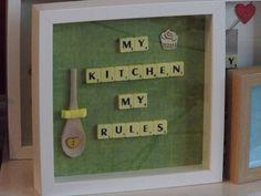 My Kitchen Scrabble Art Frame by GiftstoGrace on Etsy