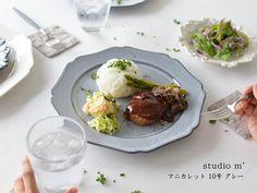 STUDIO M'/スタジオM マニカレット 10号 プレート グレー