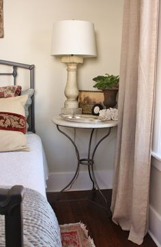 Aina Ikea curtains, benjamin Moore Overcast and white dove trim