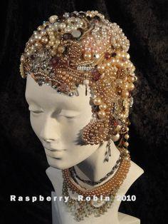 Photo Vintage Jewelry Beaded Rhinestone Flapper Girl  Art  Print. $14.50, via Etsy.