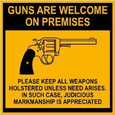 "TIN SIGN /""Guns"" Comedy Mancave Garage College Humor Rustic Decor USA Jokes Old"