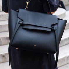 black leather #bag :: #Céline