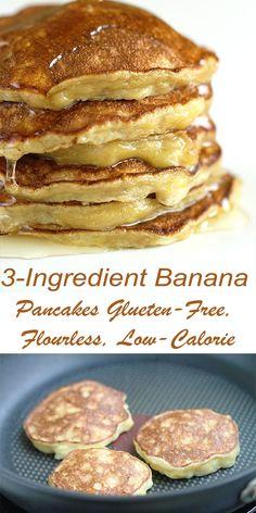 Banana Pancakes Glueten-Free, Flourless, Low-Calorie - Hot From My . - Clorie Recipes Banana Pancakes Glueten-Free, Flourless, Low-Calorie - Hot From My . Pancakes Low Calorie, Filling Low Calorie Meals, Low Calorie Meal Plans, Pancake Calories, Healthy Low Calorie Meals, No Calorie Foods, Low Calorie Recipes, Healthy Banana Pancakes, Banana Egg Pancakes