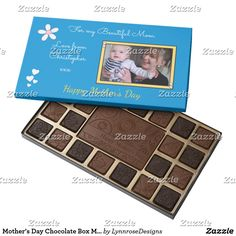 Mother's Day Chocolate Box Mom photo blue