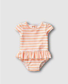 Bañador de bebé niña Gap con rayas bicolor