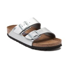 Fashion and function come together to bring you the Arizona Soft Footbed Sandal from Birkenstock. The classic and comfortable Arizona Soft Footbed Sandal flaunts iconic, double straps, crafted with Birko-Flor uppers, a synthetic leather-like material that resists tears with a soft, felt lined backing for premium comfort. The Soft Footbed design provides lightweight cushion with an extra layer of soft foam inserted between the cork midsole and suede liner for ultimate support and comfort.