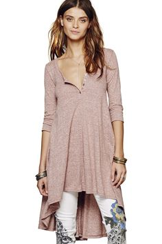 Half Sleeves Solid Color Dress PINK: Casual Dresses | ZAFUL