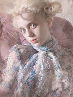 "stormtrooperfashion:  Esmeralda Seay-Reynolds in ""She's A Love Blonde"" byMario TestinoforVogue Germany,March 2014"