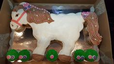 Pull apart horse cupcake cake