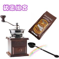 Classic hand grinder household grinding machine arbitraging aa blue mountain coffee beans 227 coffee powder measuring spoon