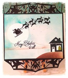 Our design team member, Alicia Falu, has created this beautiful Christmas card using Joy Clair's 4x6 stamp set Santa's Coming.  Designed by Roxanne Frazier.