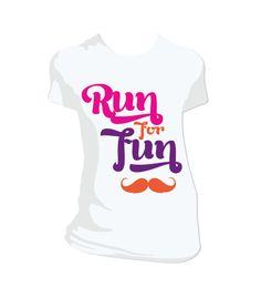 T-Shirt ::: Run For Fun by Plastilina Magenta, via Behance