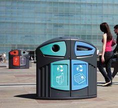 Diseño estético y capacidad de 200 litros para reciclaje urbano Trash Bins, Canning, Recycling Bins, Urban Furniture, Outer Space, Home Canning, Conservation