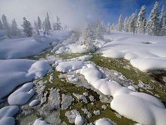 El géiser del pulgar del oeste, Yellowstone