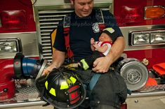 Firefighter Newborn Photography Session