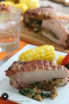 Grilled Stuffed Pork