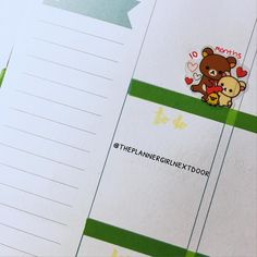 marked something special in my planner with these rilakkuma stickers my boyfriend bought me! #PLANNERGIRLCHALLENGE