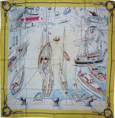 """Carré Hermès  -  """"Belle-Ile   le Port"""""""
