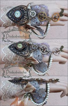 Steampunk watch cuff by Pinkabsinthe on DeviantArt
