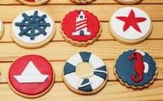 Sailor Party, Sailor Theme, Nautical Mickey, Nautical Party, Baby Party, Baby Shower Parties, Navy Party Themes, Baby Door Wreaths, Pirate Cookies