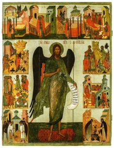 Rostov icon from the beginning of the century. Byzantine Art, John The Baptist, Orthodox Icons, 16th Century, Photo Wall, Painting, Icons, Photograph, Painting Art