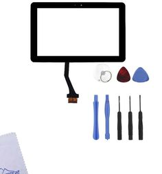 "Group Vertical® Black Touch Screen Display Digitizer Front Glass Replacement for Samsung Galaxy Tab 2 10.1"" P5110 WiFi Version Tablet + TOOLS - New Release Tablets And Tablet Accessories"