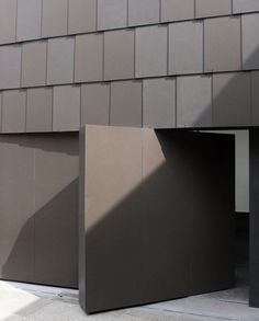South London Gallery - 6A - Love the huge pivot door. Cladding is 2 tones of fibre cement panels. (Marley Eternit)