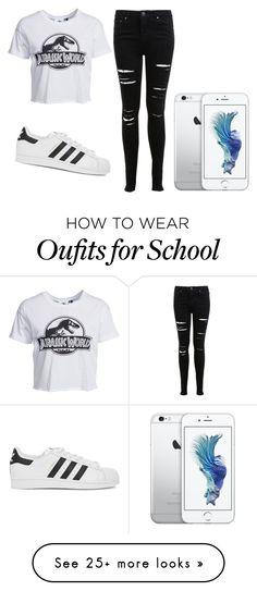 """""""to school"""" by catarinacontreiras on Polyvore featuring New Look, adidas Originals and Miss Selfridge"""
