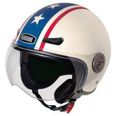 Nutcase - Motorcycle/Scooter Helmet, Fits Your Head, Suits Your Soul - Americana, Medium, Multi Custom Motorcycle Wheels, Retro Helmet, Scooter Helmet, Open Face Helmets, Sports Helmet, Riding Gear, Red White Blue, Dark Red, Suits You